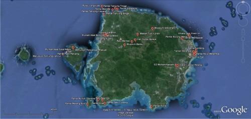 Peta Belitung