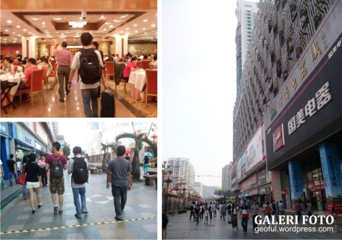 Sarapan dan jalan-jalan ke pasar elektronik