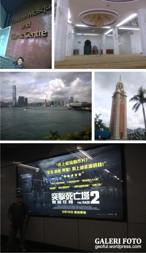 Masjid Kowloon, Star Ferry, Colck Tower dan Poster The Raid